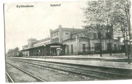 Eydtkuhnen Chernyshevskoye Bahnhof Mit Poststempel Feldpost 1917 - Ostpreussen