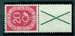 Bund / Zusammendrucke. Posthorn, Nr. S 5 Falz * - Se-Tenant