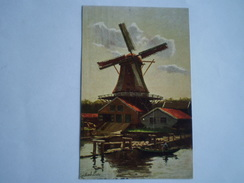Molen Onbekend Waar // Gerstenhauer // Gelopen 1909 - Pays-Bas