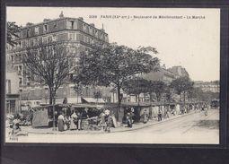CPA 75 - PARIS - XXème Arrondissement - Boulevard De Ménilmontant - Le Marché - TB PLAN STANDS Et ANIMATION - Arrondissement: 20