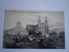 Haïti // Port Au Price // Vue Des Deux Cathedrales (animee) Nice Stamps And Amsterd.WIndie Pakketboot Stempel! 1911 - Haiti