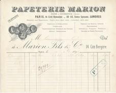 Papeterie MARION - Paris, Londres, 1892 - Imprimerie & Papeterie