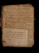 Acte Actes Notariés Manuscrit 1662 XVIIeme 43 Pages Louverné,la Trouffiere,la Marche, Mayenne Laval 53   N°7 - Manuscrits