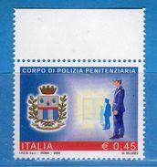 Italia ** - Anno 2004 - Polizia PENITENZIARIA . Unif. 2808 .     Vedi Descrizione. - 2001-10:  Nuovi