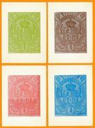 Andorra Viguerie Andorre 1984 Carte 4 à 7 Série De 4v, Douchet 1 Pts Verso Blanc ( Sans Impession Pour Carte Au Verso) - Timbres