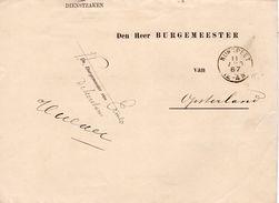1887 Dienstbrief Van NUNSPEET Via HEERENVEEN En BEETSTERZWAAG Naar Opsterland - Poststempels/ Marcofilie