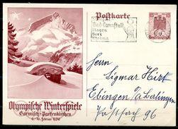 """German Empires1935 GS Mi.Nr.P258""""Olympische Winterspiele,Garmisch-Partenkirchen""""mit ET MWST""""Stuttgart 25.11.35.""""1GS Used - Interi Postali"""