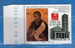 Italia ** - Anno 2004 - Abbazia Di GROTTAFERRATA . Unif. 2819 .     Vedi Descrizione. - 2001-10:  Nuovi