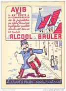- FRANCE - Protège-cahier L'ALCOOL à BRULER - - Protège-cahiers
