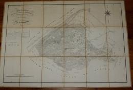 PLAN CANTON LOROUX-BOTTEREAU  1850  NANTES  Entoilé Format 88 X 61 - Cartes Topographiques