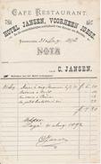 Café Restaurant - Hotel JANSEN, Voorheen Ignesz - Enkhuizen, 1892 - Pays-Bas