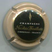 CAPSULE-CHAMPAGNE FEUILLATTE NICOLAS N°46 E Sous T Ctr. Marron Clair Centre Noir - Feuillate