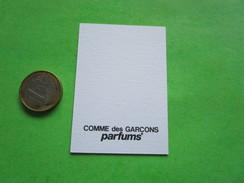 COMME DES GARCONS  - Carte Parfumée - Perfume Cards