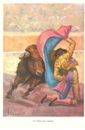 POSTAL    -FIESTA BRAVA  -FAROL DE RODILLAS  ( COLEC. A DE DIEZ POSTALES REF.5548 ) - Other
