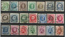 Belgique -  Lot De 31 Timbres Oblitérés Entre 1924 Et 1930 - Usados