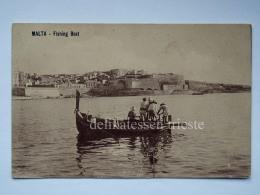 MALTA Fishing Boat Barca Pescatori Cartolina Old Postcard - Malta