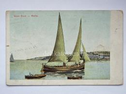 MALTA Gozo Boat Fishing Boat Barca Pescatori Cartolina Old Postcard - Malta
