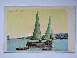 MALTA Gozo Boat Fishing Boat Barca Pescatori Cartolina Old Postcard Bis - Malta
