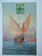 MALTA Gozo Boat Fishing L. M Galea Boat Barca Pescatori Cartolina Old Postcard 11 - Malta