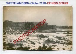 WESTFLANDERN-NON SITUEE-Cliche 2198-Positions-CARTE PHOTO Allemande-Guerre 14-18-1 WK-BELGIEN- - Belgium