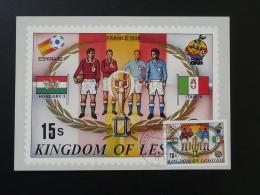 Coupe Du Monde Football World Cup 1938 France Carte Maximum Card Lesotho - Lesotho (1966-...)