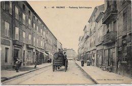 CPA Valence Drôme Département 26 écrite Commerces Attelage - Valence