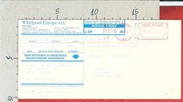 CARTOLINA VIAGGIATA ITALIA 2000 - COMMERCIALE - WHIRPOOL EUROPE - ATM ROSSA BIANDRONNO (VA) - Affrancature Meccaniche Rosse (EMA)