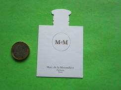 MARC DE LA MORANDIERE  - Carte Parfumée - Perfume Cards