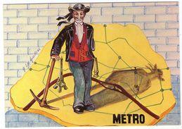 CPM     B. FULGENCE EST LE PERE DU METRO PARISIEN      ILLUSTRATION A. LE GUILLOUX - Subway