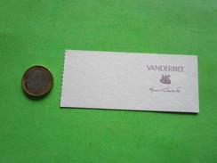 VANDERBILT - Carte Parfumée - Perfume Cards