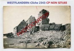 WESTFLANDERN-NON SITUEE-Cliche 2343-Positions-CARTE PHOTO Allemande-Guerre 14-18-1 WK-BELGIEN- - Belgium