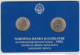Yugoslavia  1992. Official Mint Set Of National Bank Coin Set - Joegoslavië