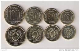Yugoslavia 1988 COIN SET 10,20,50 And 100 Dinara UNC KM#131-132-133-134 - Jugoslavia