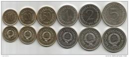 Yugoslavia 1991. Complete Coin Set UNC/AUNC - Yougoslavie