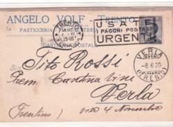 Cartolina Commerciale Privata Da Trento 1929  G380 - Marcophilia