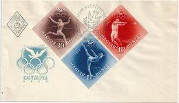 7719-II Hungary FDC Summer Olympic 1952 Helsinki Sport - Sommer 1952: Helsinki