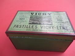 Boite Métallique Ancienne/pastilles Vichy Etat/Etablissement Thermal De VICHY/500 Grammes:Menthe/Vers 1910-1930  BFPP142 - Boîtes