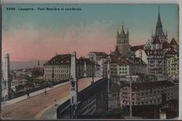 Lausanne - Pont Bessiere Et Cathedrale - Phototypie - VD Vaud
