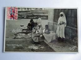 MAROCCO Tipos Marroquies Beggar Seller Old Postcard - Marocco