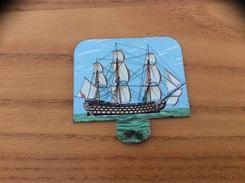 Plaque En Tôle HUILOR-DULCINE SAMO CREMOLIVE «LE VICTORY 1805» (bateau, Voilier) - Navigation