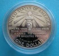 United States  1986 1 Dollaro Argento  PROOF  ELLIS ISLAND - Émissions Fédérales