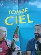 Dépliant/ Affiche (15x21 Cm Puis 60x42 Cm) : Tombé Du Ciel, W. Charaf,  Avec 1 Carte Postale - Merchandising