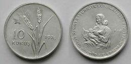 AC - TURKEY FAO 10 KURUS 1976 ALUMINUM UNCIRCULATED - Turkije