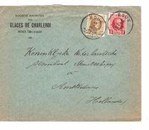 TP 203-256 Albert Houyoux Perforés G.C S/L.En-Tête S.A.Glaces De Charleroi C.Roux 14/10/1929 AP1157 - Perfins