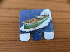 Plaque En Tôle HUILOR-DULCINE SAMO CREMOLIVE «LE NISSHO MARU JAPON 1962» (bateau, Pétrolier) - Navigation