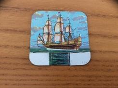 Plaque En Tôle HUILOR-DULCINE SAMO CREMOLIVE «LE SOVEREIGN OF THE SEAS 1637» (bateau, Voilier) - Navigation