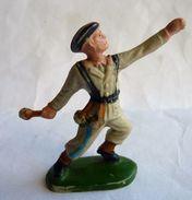 Figurine CYRNOS ARMEE MODERNE SOLDAT WWII CHASSEUR ALPIN LANCEUR DE GRENADE Mod 05 Bleu - Starlux