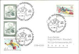 POSTMARKET  1984  AUSTRIA J.A SAMARANCH - Juegos Olímpicos