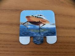 Plaque En Tôle HUILOR-DULCINE SAMO CREMOLIVE «LE FRECCIA DEL SOLE ITALIE 1961» (bateau) - Navigation