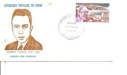 Ecrivains - Albert Camus ( FDC Du Congo Brazzaville De 1980 à Voir) - Writers